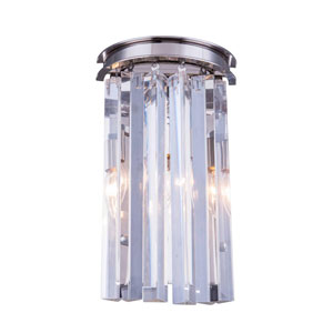 Sydney Polished Nickel Two-Light Wall Sconce with Royal Cut Clear Crystals
