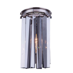 Sydney Polished Nickel Two-Light Wall Sconce with Royal Cut Silver Shade Crystals