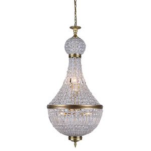 Stella French Gold 20-Inch Eight-Light Chandelier