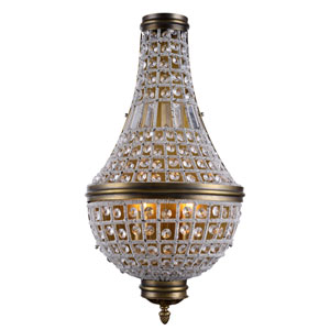 Stella French Gold 13-Inch Three-Light Wall Sconce