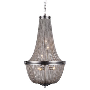 Paloma Pewter 17-Inch Six-Light Mini Chandelier