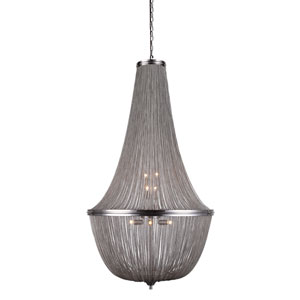 Paloma Pewter 30-Inch 10-Light Chandelier