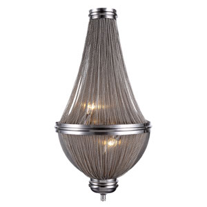 Paloma Pewter 13-Inch Three-Light Wall Sconce