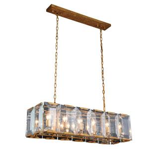 Monaco Golden Iron Twelve-Light Pendant