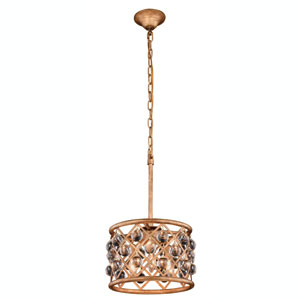 Madison Golden Iron 12-Inch Three-Light Pendant
