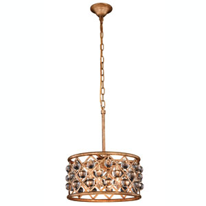 Madison Golden Iron 16-Inch Four-Light Pendant