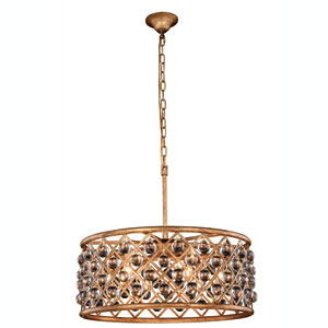 Madison Golden Iron 25-Inch Six-Light Pendant