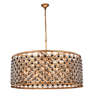 Madison Golden Iron 43.5-Inch Ten-Light Pendant