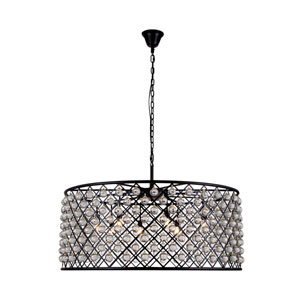 Madison Mocha Brown 10-Light Pendant with Smooth Clear Crystals