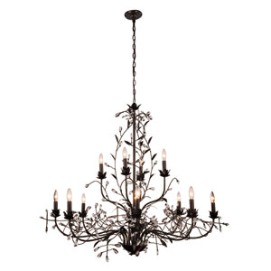 Arbor Golden Dark Bronze Twelve-Light Chandelier