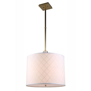 Gemma Burnished Brass Two-Light Drum Pendant