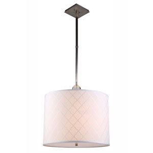 Gemma Vintage Nickel Two-Light Drum Pendant