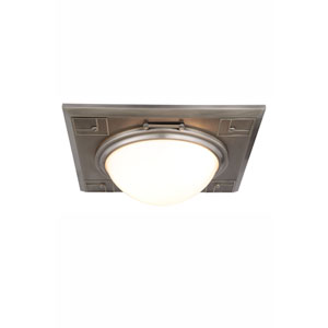 Cilla Vintage Nickel Three-Light Flush Mount