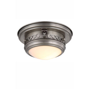 Mallory Vintage Nickel One-Light Flush Mount