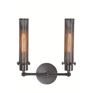 Nelson Black Two-Light Wall Sconce
