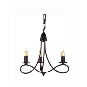 Lyndon Dark Bronze Three-Light Pendant