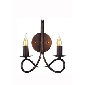 Lyndon Dark Bronze Two-Light Wall Sconce