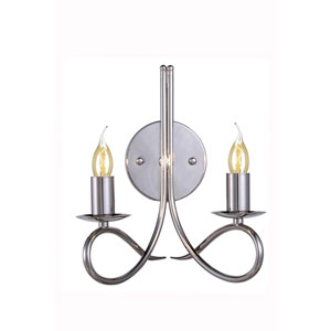 Lyndon Polished Nickel Two-Light Wall Sconce