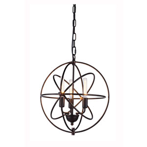 Vienna Dark Bronze Three-Light Pendant