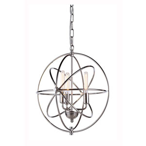 Vienna Polished Nickel Three-Light Pendant