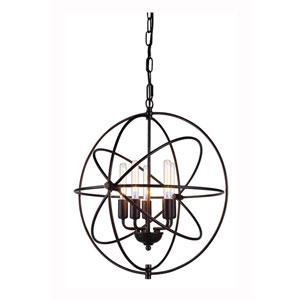 Vienna Dark Bronze Five-Light Pendant