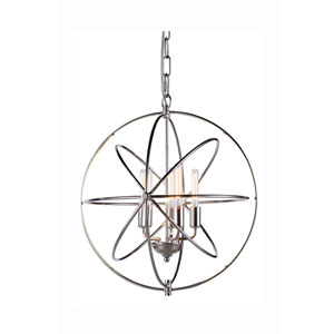 Vienna Polished Nickel Five-Light Pendant