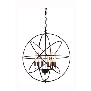 Vienna Dark Bronze Six-Light Pendant