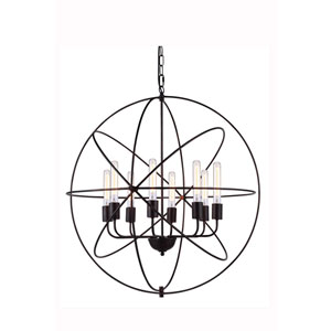 Vienna Dark Bronze Eight-Light Pendant