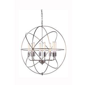 Vienna Polished Nickel Eight-Light Pendant