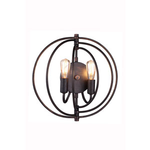 Vienna Dark Bronze Two-Light Pendant
