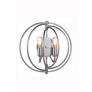 Vienna Polished Nickel Two-Light Wall Sconce