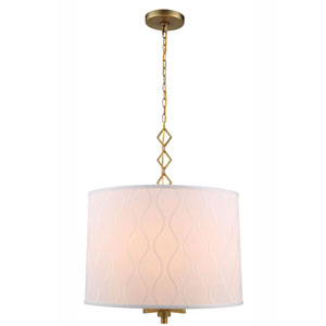 Meridian Burnished Brass Four-Light Pendant