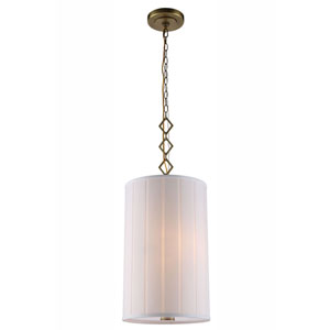 Luna Burnished Brass Two-Light Pendant