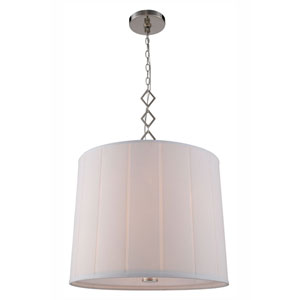 Luna Polished Nickel Two-Light Drum Pendant