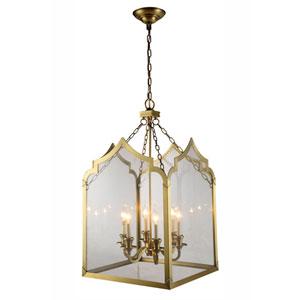 Newport Burnished Brass 20-Inch Six-Light Lantern Pendant