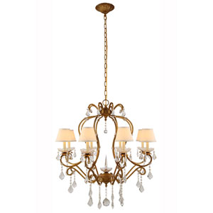 Diana Golden Iron Eight-Light Chandelier