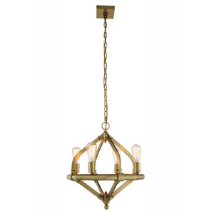 Illumina Burnished Brass Four-Light Chandelier