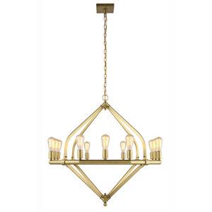 Illumina Burnished Brass Twelve-Light Chandelier