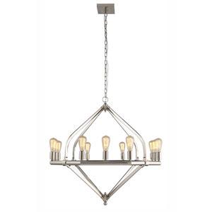 Illumina Polished Nickel Twelve-Light Chandelier