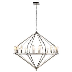 Illumina Polished Nickel 16-Light Chandelier