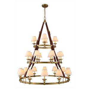 Cascade Burnished Brass 24-Light Chandelier