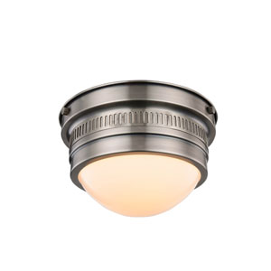 Pria Vintage Nickel One-Light Flush Mount