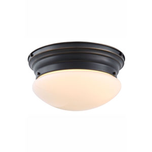 Daisy Bronze Three-Light Flush Mount
