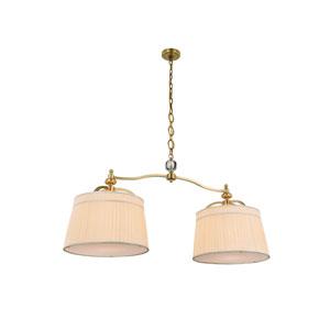 Cara Burnished Brass Two-Light Pendant