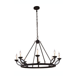 Charleston Vintage Bronze Eight-Light Chandelier