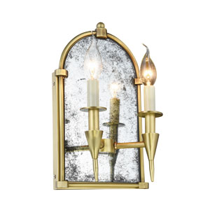 Bavaria Burnished Brass Two-Light Wall Sconce