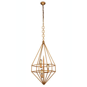 Marquis Golden Iron 22-Inch Three-Light Pendant