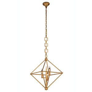 Nora Golden Iron Three-Light Pendant