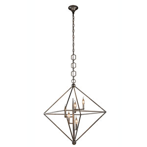 Nora Aged Iron Five-Light Pendant