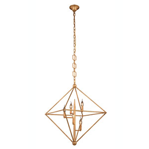 Nora Golden Iron Five-Light Pendant